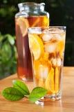 Vetro del tè di ghiaccio Immagini Stock Libere da Diritti