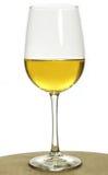 Vetro del vino bianco del chardonnay Fotografie Stock