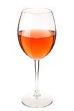 Vetro del vino di colore della paglia Immagini Stock Libere da Diritti