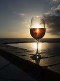 Vetro del vino di Rosa Immagine Stock Libera da Diritti