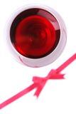 Vetro del vino rosso Fotografie Stock Libere da Diritti