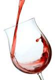 Vetro del vino rosso Immagini Stock