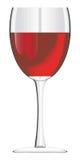 Vetro del vino rosso Immagini Stock Libere da Diritti