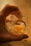 Vetro del whisky Fotografia Stock