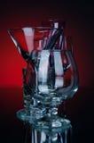 Vetro dell'alcool del gruppo Fotografia Stock Libera da Diritti