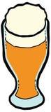 Vetro dell'illustrazione di vettore della birra Metta la cucina illustrazione di stock