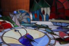 Vetro dell'orologio nello stile del mosaico Fotografia Stock