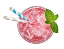 Vetro della bevanda rosa della soda fotografia stock