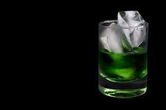 Vetro della bevanda verde Fotografia Stock Libera da Diritti