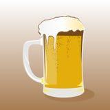 Vetro della birra chiara Fotografie Stock