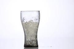 Vetro della coca-cola Fotografie Stock Libere da Diritti