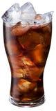 Vetro della cola del ghiaccio su fondo bianco Fotografia Stock