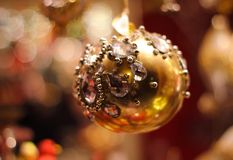 Vetro della decorazione di Natale fotografia stock libera da diritti