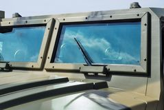 Vetro della jeep del primo piano Fotografie Stock Libere da Diritti
