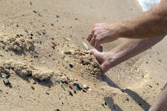 Vetro della spiaggia in Bermude Fotografia Stock