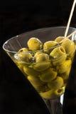 Vetro delle olive fotografie stock