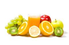 Vetro dello smoothie sano esotico con frutta. Fotografie Stock
