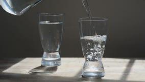 Vetro di acqua stock footage