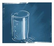 Vetro di acqua illustrazione vettoriale