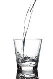 Vetro di acqua fotografia stock