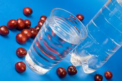Vetro di acqua Fotografie Stock