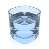 Vetro di acqua blu illustrazione vettoriale