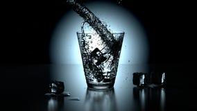 Vetro di acqua pura di cristallo Immagine Stock