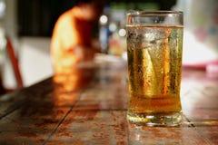 Vetro di birra. Fotografie Stock