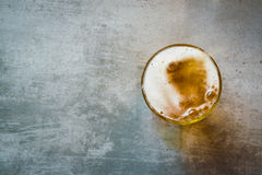 Vetro di birra Immagini Stock