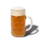 Vetro di birra bavarese di Oktoberfest Immagini Stock