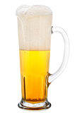 Vetro di birra chiara fotografia stock libera da diritti