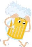 Vetro di birra con un'emicrania royalty illustrazione gratis