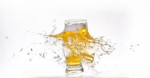Vetro di birra d'esplosione Immagine Stock Libera da Diritti