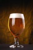 Vetro di birra leggera Immagine Stock