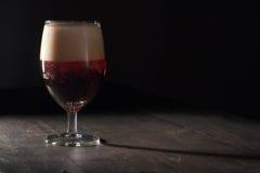 Vetro di birra marrone Fotografie Stock Libere da Diritti