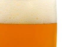 Vetro di birra, primo piano Fotografia Stock Libera da Diritti