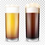 Vetro di birra Tazza trasparente royalty illustrazione gratis