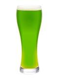 Vetro di birra verde isolato Immagini Stock Libere da Diritti