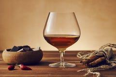 Vetro di brandy Fotografia Stock Libera da Diritti