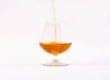 Vetro di brandy Fotografia Stock