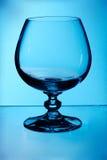 Vetro di brandy blu Fotografia Stock
