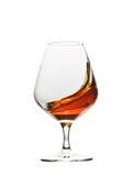 Vetro di brandy del cognac Fotografie Stock