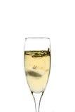Vetro di champagne con ghiaccio Immagine Stock Libera da Diritti