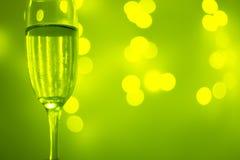 Vetro di Champagne nel partito immagine stock libera da diritti