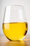Vetro di Chardonnay fotografia stock