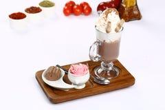 Vetro di cioccolata calda Immagine Stock