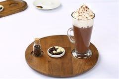 Vetro di cioccolata calda Fotografia Stock