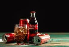 Vetro di coca-cola Fotografia Stock Libera da Diritti