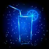 Vetro di cocktail al neon Immagini Stock Libere da Diritti