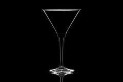 Vetro di cocktail isolato su fondo nero Immagini Stock Libere da Diritti